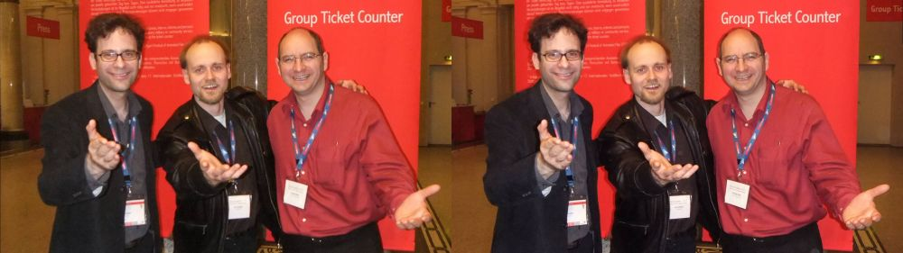 Neil Schneider (left), Jens Schöbel (middle), Andrew Oliver (right) at FMX 2010