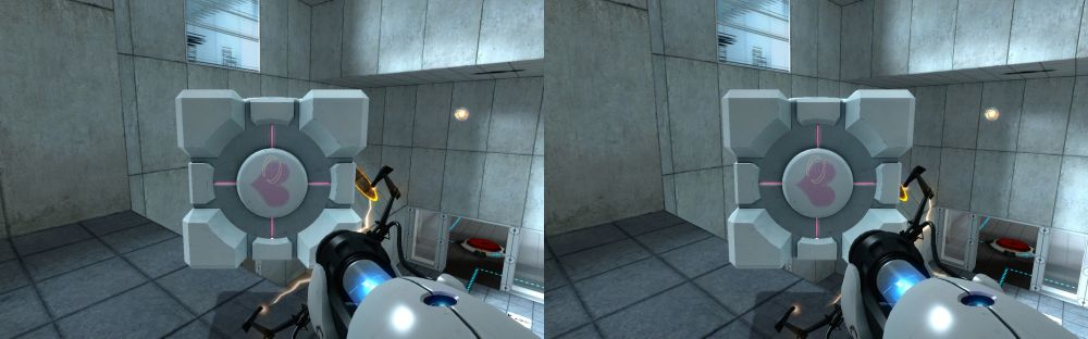 Valve's Portal in Stereoscopic 3D!