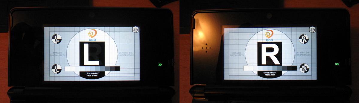 Nintendo 3DS Ghosting Test (DDD Image)