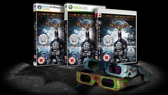 Trioviz Glasses With Batman: Arkham Asylum