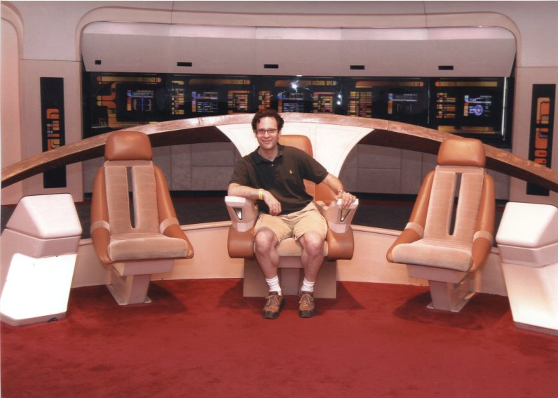 Neil Schneider Commanding the Enterprise!