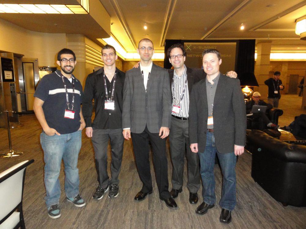 L-R: Mina Tawadrous, Brodie Stanfield, Dr. Bill Kapralos, Neil Schneider, Shane Parfitt at X-Summit