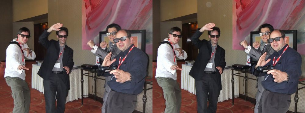 Left to right: Jordi Ortega (Torobravo), Neil Schneider (MTBS/S3DGA), Mike Kim (Hyundai), Andrew Oliver (Blitz Games Studios)