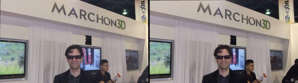 Neil Schneider at Marchon 3D CES 2011 Exhibit