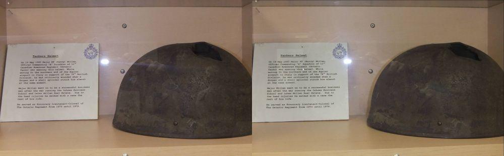 Surviver's WWII Helmet