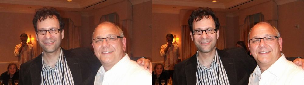 Neil Schneider, MTBS (Left), Bill Admans, Dolby Laboratories (Right)
