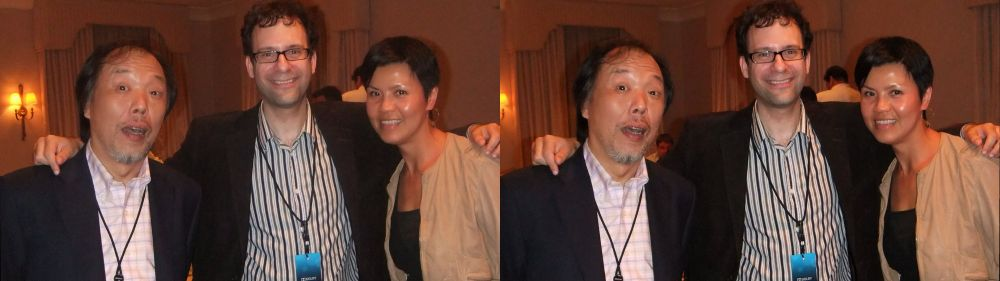 Kinson Tsang (left), Neil Schneider (MTBS,middle), Anita Cheung (MBS Studios, right)