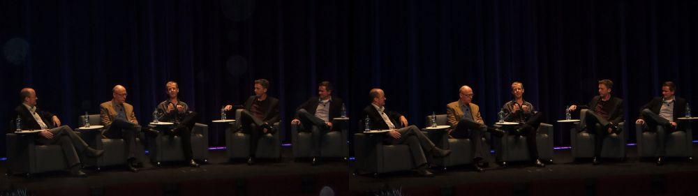 L-R Steve Pond (TheWrap), Matthew Ladarola (Samsara), Benoit Forte (NFB), Doug Delaney (New Hat), Stuart Bowling (Dolby Laboratories)