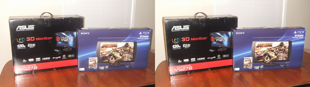 ASUS VG278 and Sony 3D Display (w/Simulview)