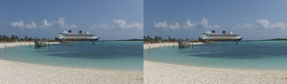 Disney Fantasy shot from Castaway Cay (Disney's Private Island)