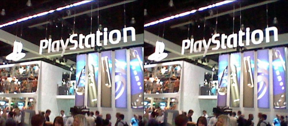 Sony PS3 Exhibit shot with Nintendo 3DS