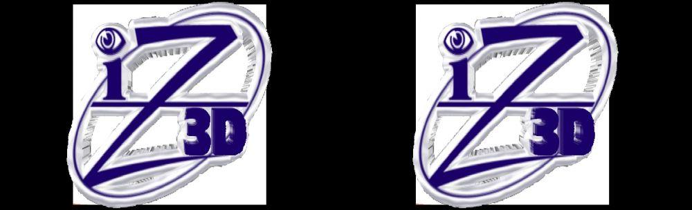 iZ3D logo in 3D