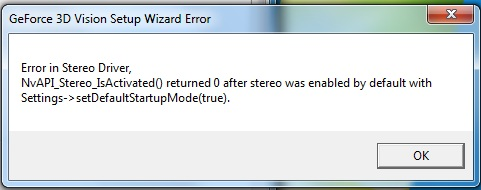 Nvidia 3DTV Play Install Error